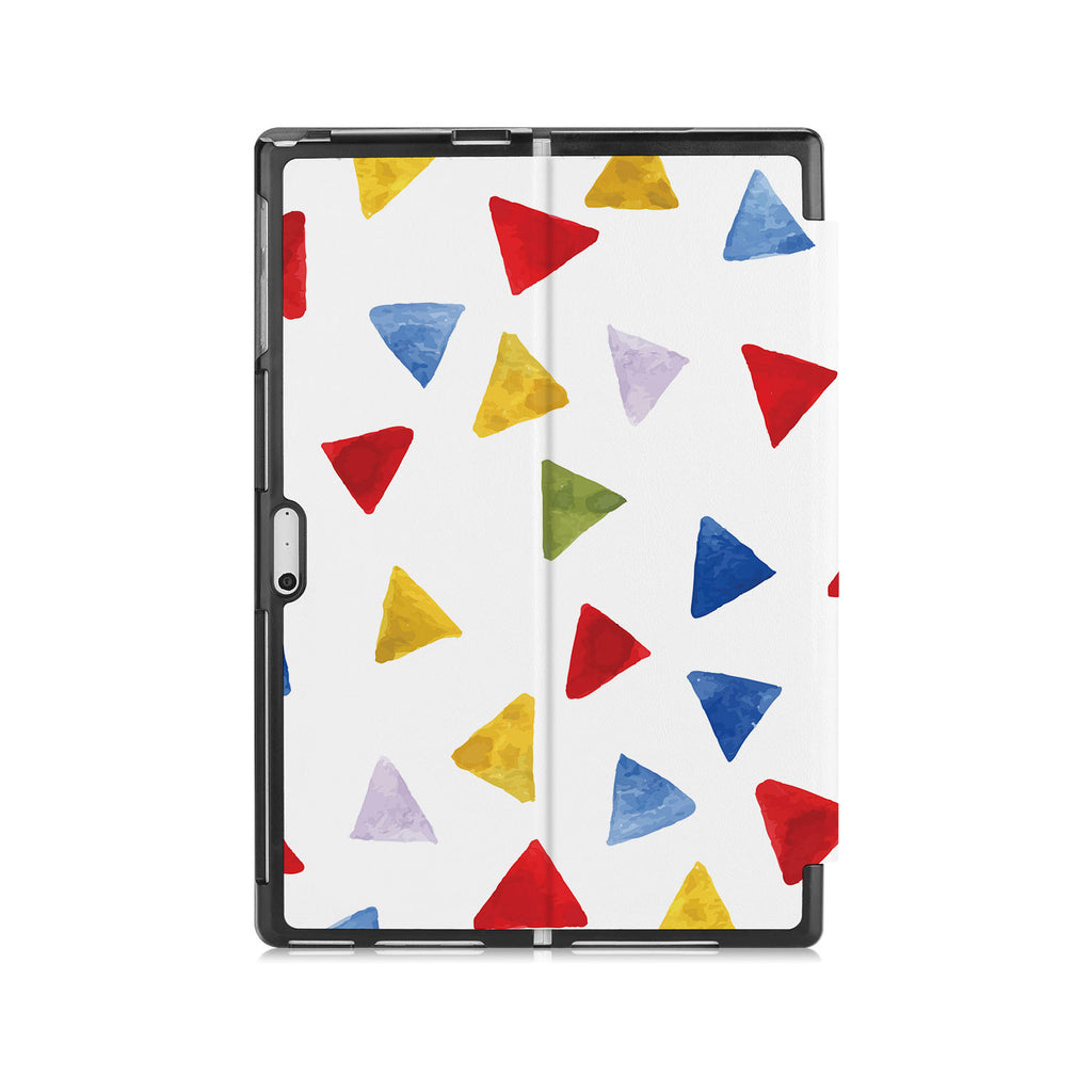 the back side of Personalized Microsoft Surface Pro and Go Case with Geometry Pattern design