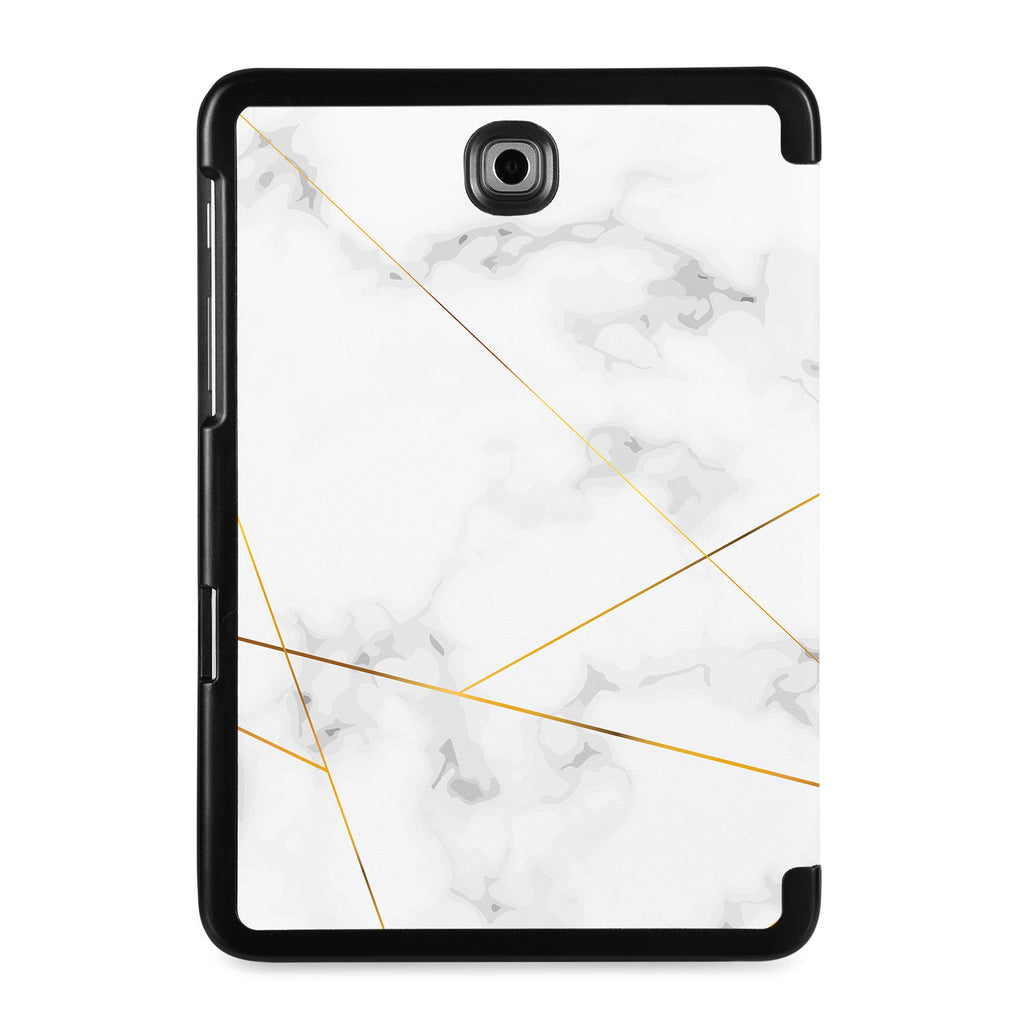 the back view of Personalized Samsung Galaxy Tab Case with Marble 2020 design