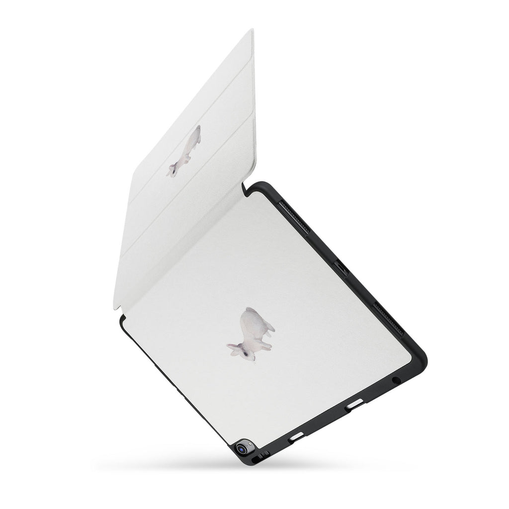 personalized iPad case with pencil holder and Minimal design