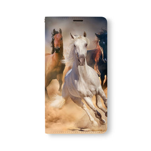 Front Side of Personalized Samsung Galaxy Wallet Case with Horse design