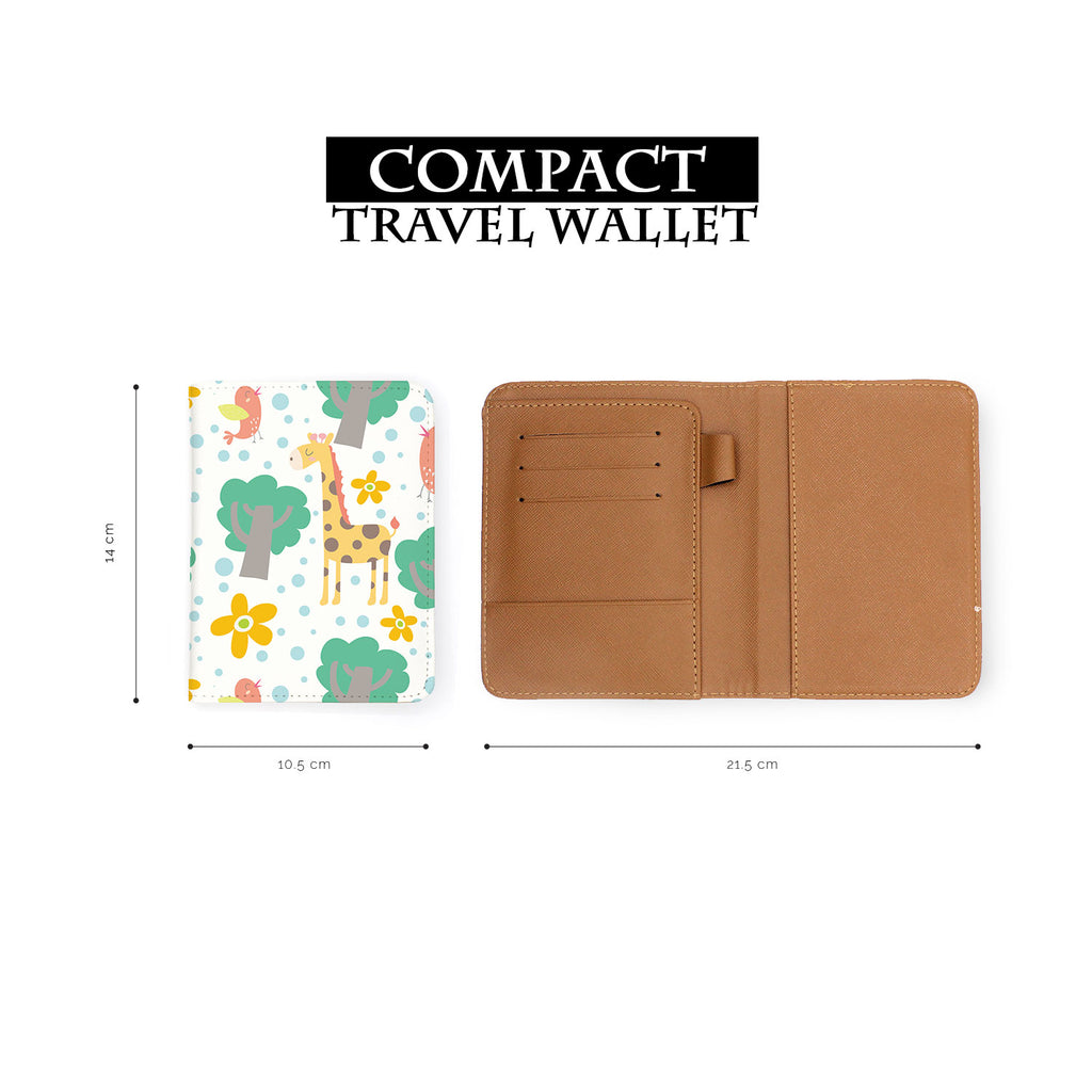compact size of personalized RFID blocking passport travel wallet with Animals Collection design