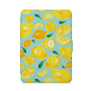 front view of personalized kindle paperwhite case with Fruit design - swap