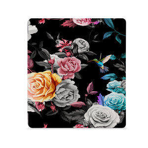 the Front View of Personalized Kindle Oasis Case with Black Flower design - swap