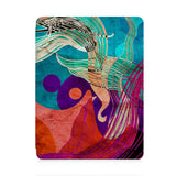 front view of personalized iPad case with pencil holder and Ukiyoe design