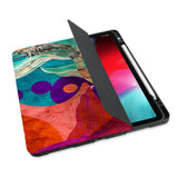 personalized iPad case with pencil holder and Ukiyoe design