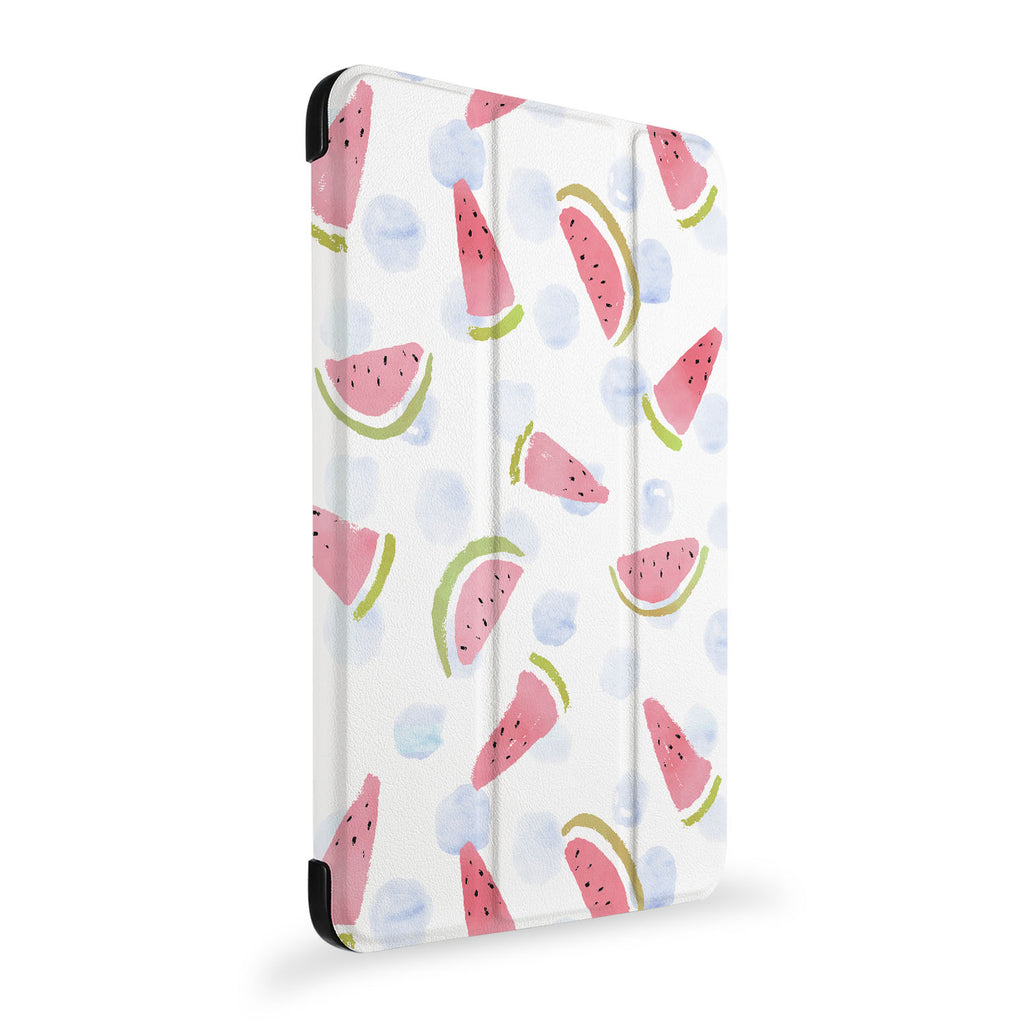 the side view of Personalized Samsung Galaxy Tab Case with Fruit Red design