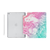 iPad SeeThru Casd with Abstract Oil Painting Design Fully compatible with the Apple Pencil