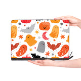 macbook air inside of personalized Macbook carry bag case with Halloween design