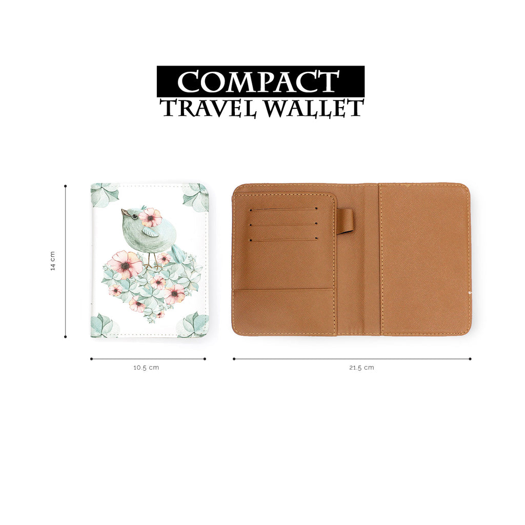 compact size of personalized RFID blocking passport travel wallet with Watercolor Pastel Mood design