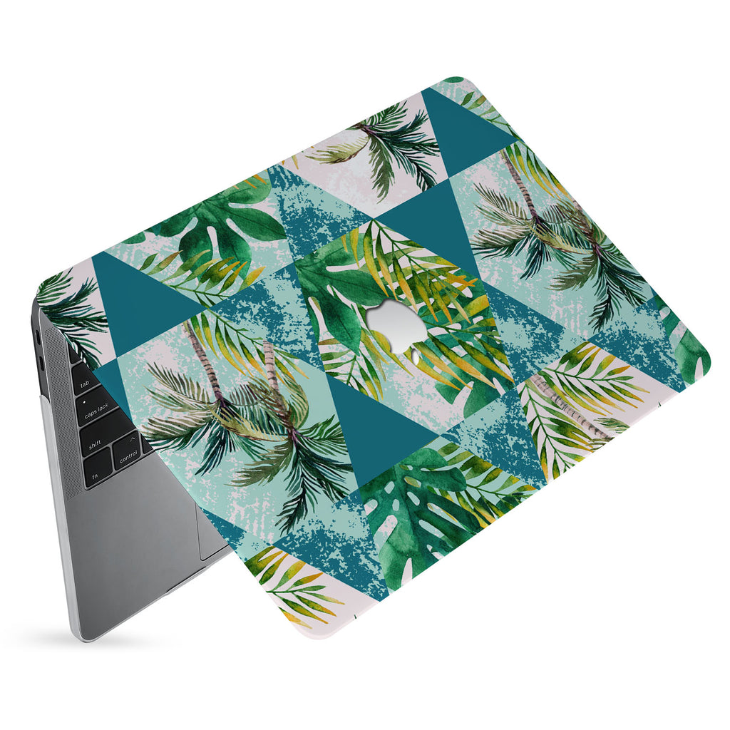 hardshell case with Tropical Leaves design has matte finish resists scratches