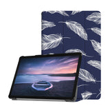 Personalized Samsung Galaxy Tab Case with Feather design provides screen protection during transit