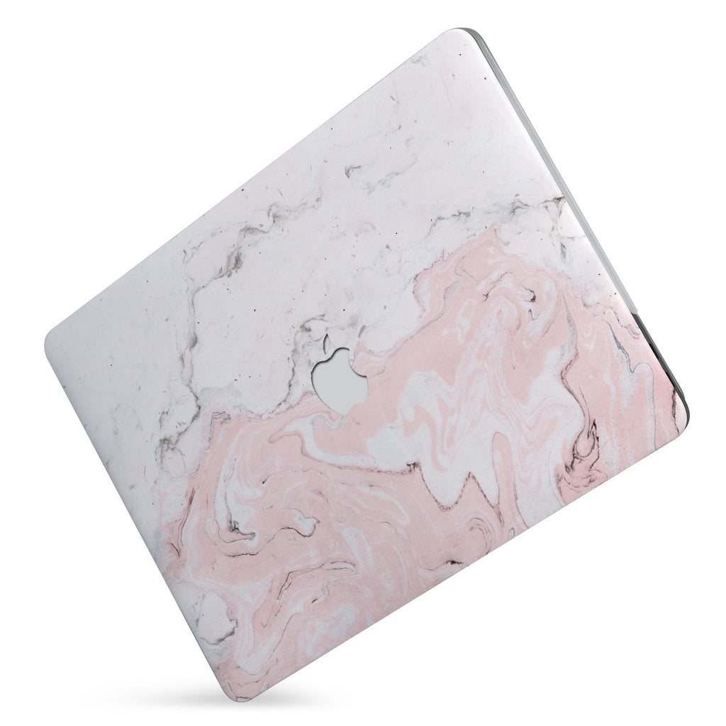 Protect your macbook  with the #1 best-selling hardshell case with Pink Marble design