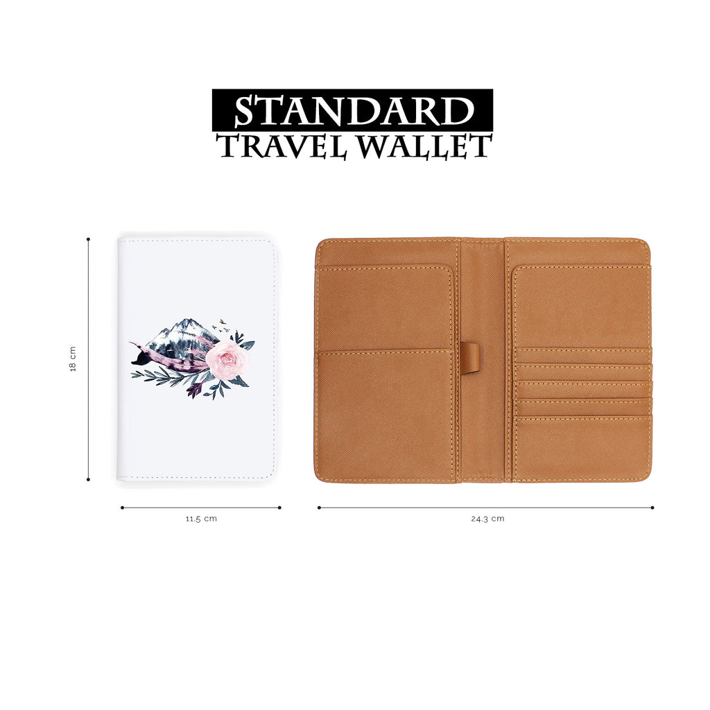 standard size of personalized RFID blocking passport travel wallet with Animals Of The Ghost design