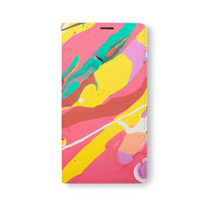 Front Side of Personalized Samsung Galaxy Wallet Case with Abstract1 design