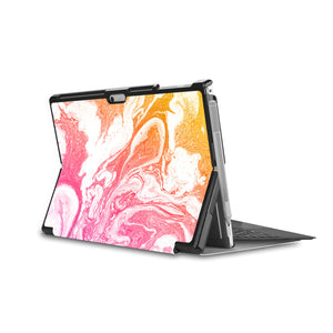 swap - the back side of Personalized Microsoft Surface Pro and Go Case in Movie Stand View with Abstract Oil Painting design