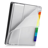 flexible back TPU cover of Personalized Kindle Oasis Case with Rainbow design
