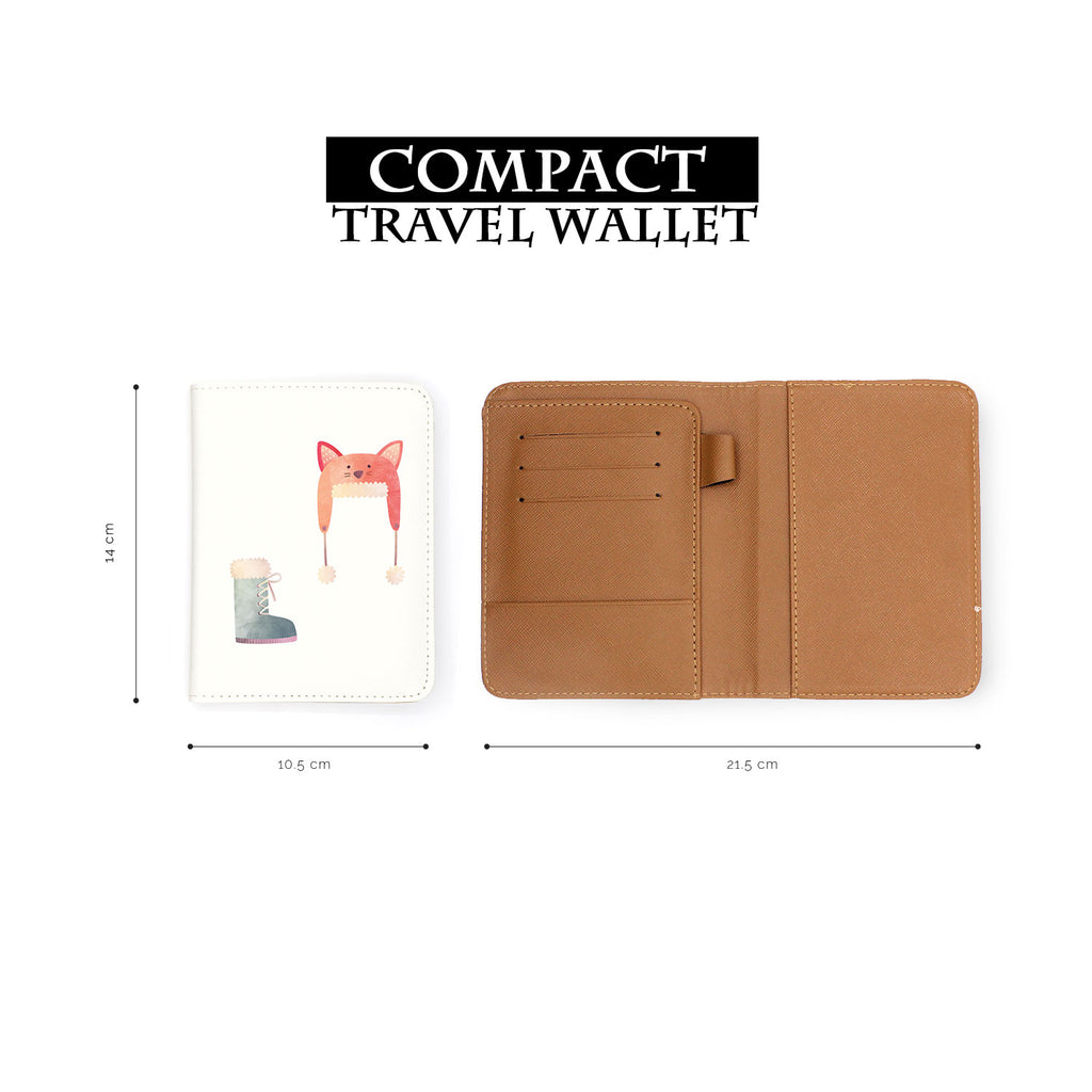 compact size of personalized RFID blocking passport travel wallet with Cold Weather Comforts 1 design