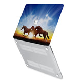 hardshell case with Horse design has rubberized feet that keeps your MacBook from sliding on smooth surfaces