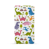 Front Side of Personalized Huawei Wallet Case with Dinosaur design
