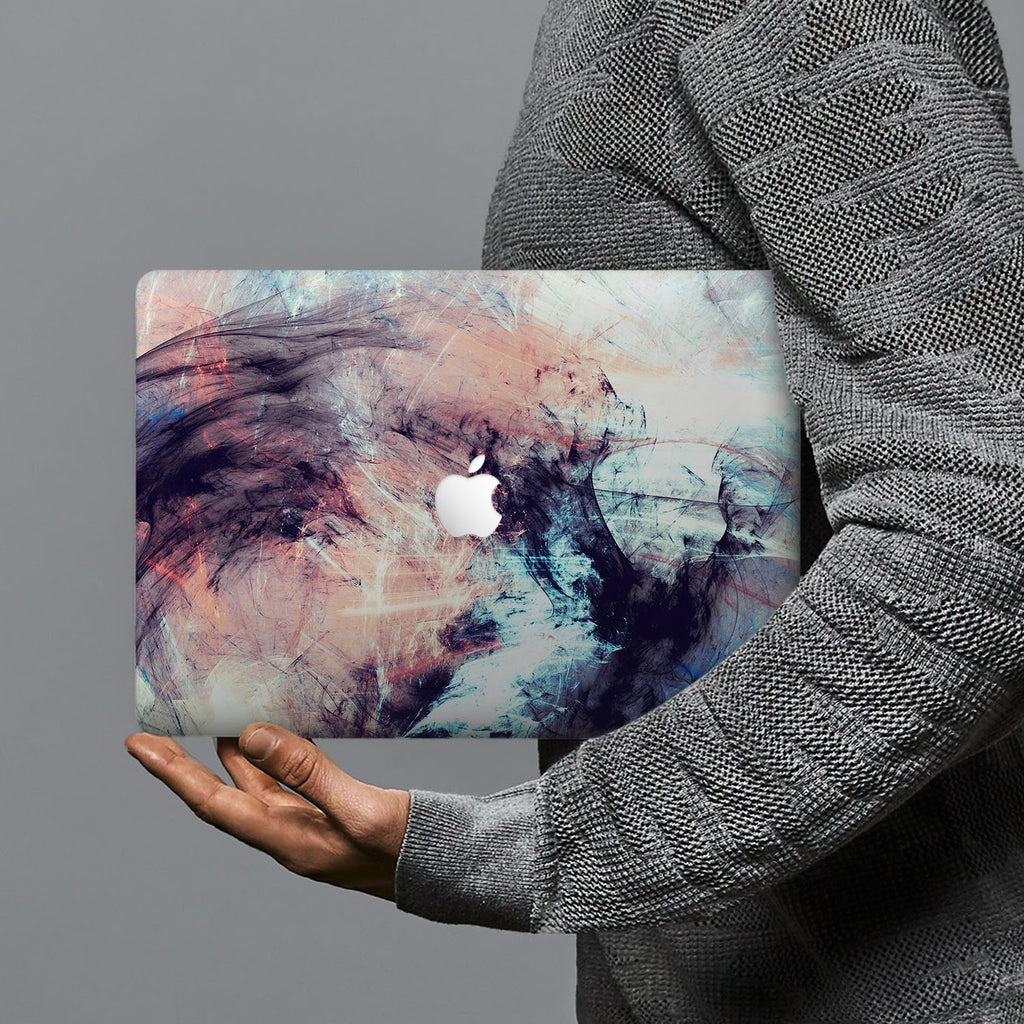 hardshell case with Futuristic design combines a sleek hardshell design with vibrant colors for stylish protection against scratches, dents, and bumps for your Macbook