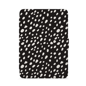 front view of personalized kindle paperwhite case with Polka Dot design - swap