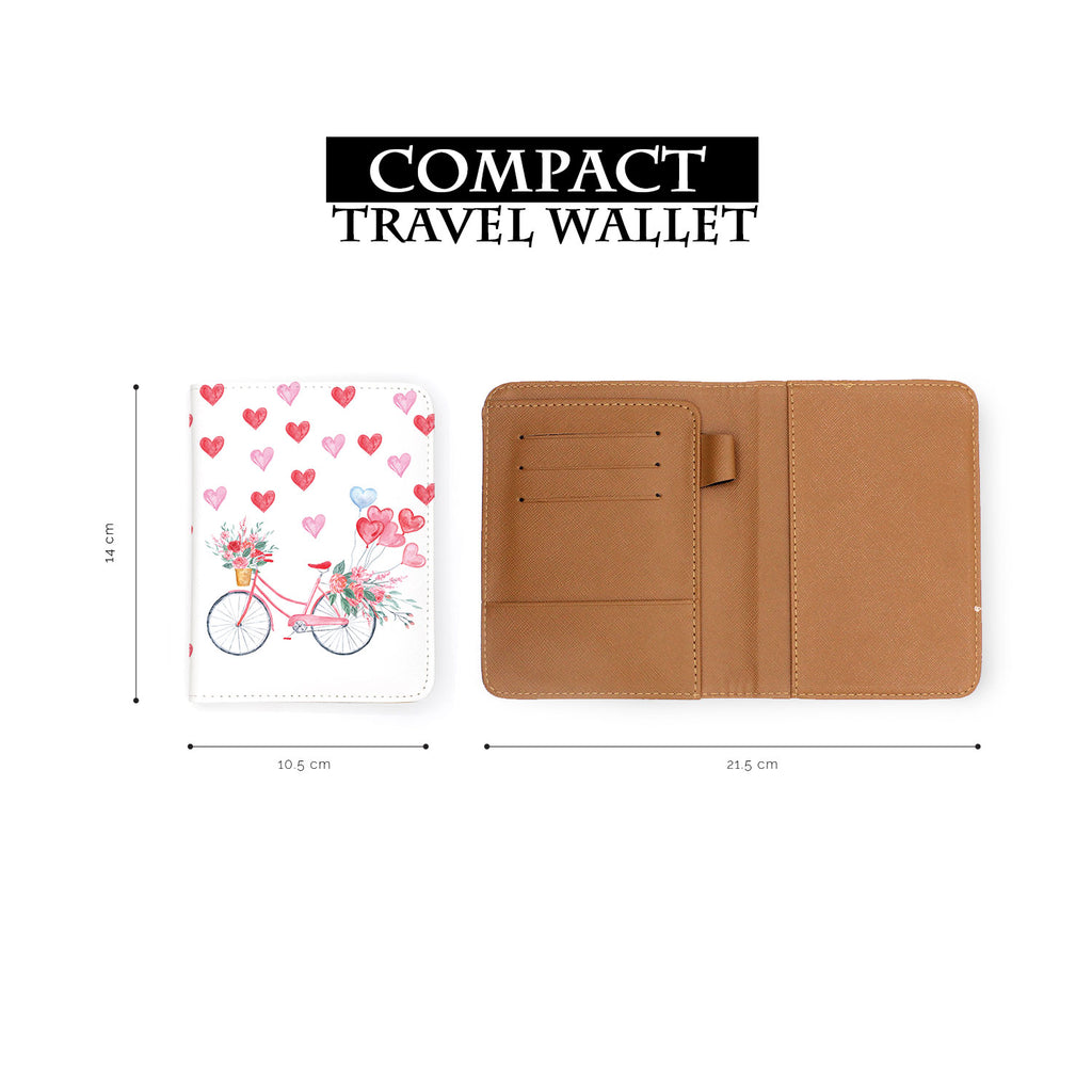 compact size of personalized RFID blocking passport travel wallet with Happy Valentine Day design