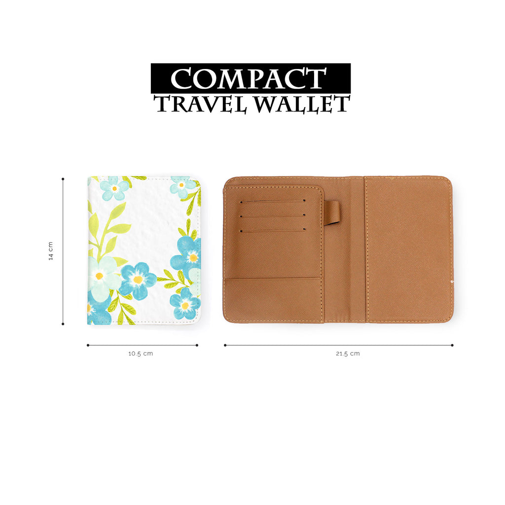 compact size of personalized RFID blocking passport travel wallet with Charm Floral design