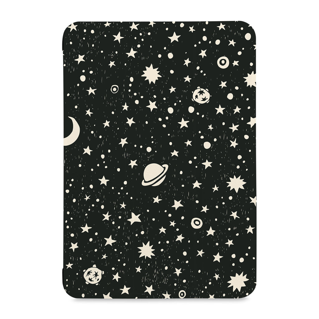 the front view of Personalized Samsung Galaxy Tab Case with Space design