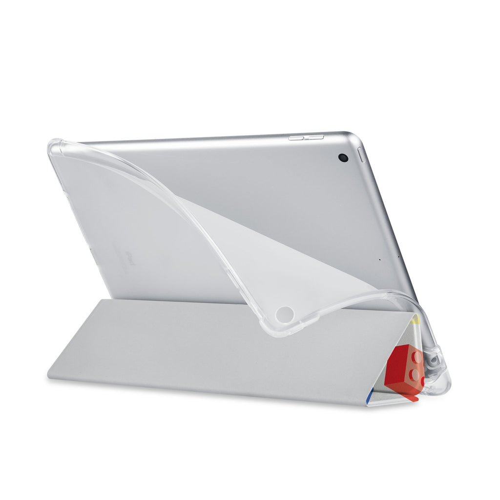 Balance iPad SeeThru Casd with Retro Game Design has a soft edge-to-edge liner that guards your iPad against scratches.