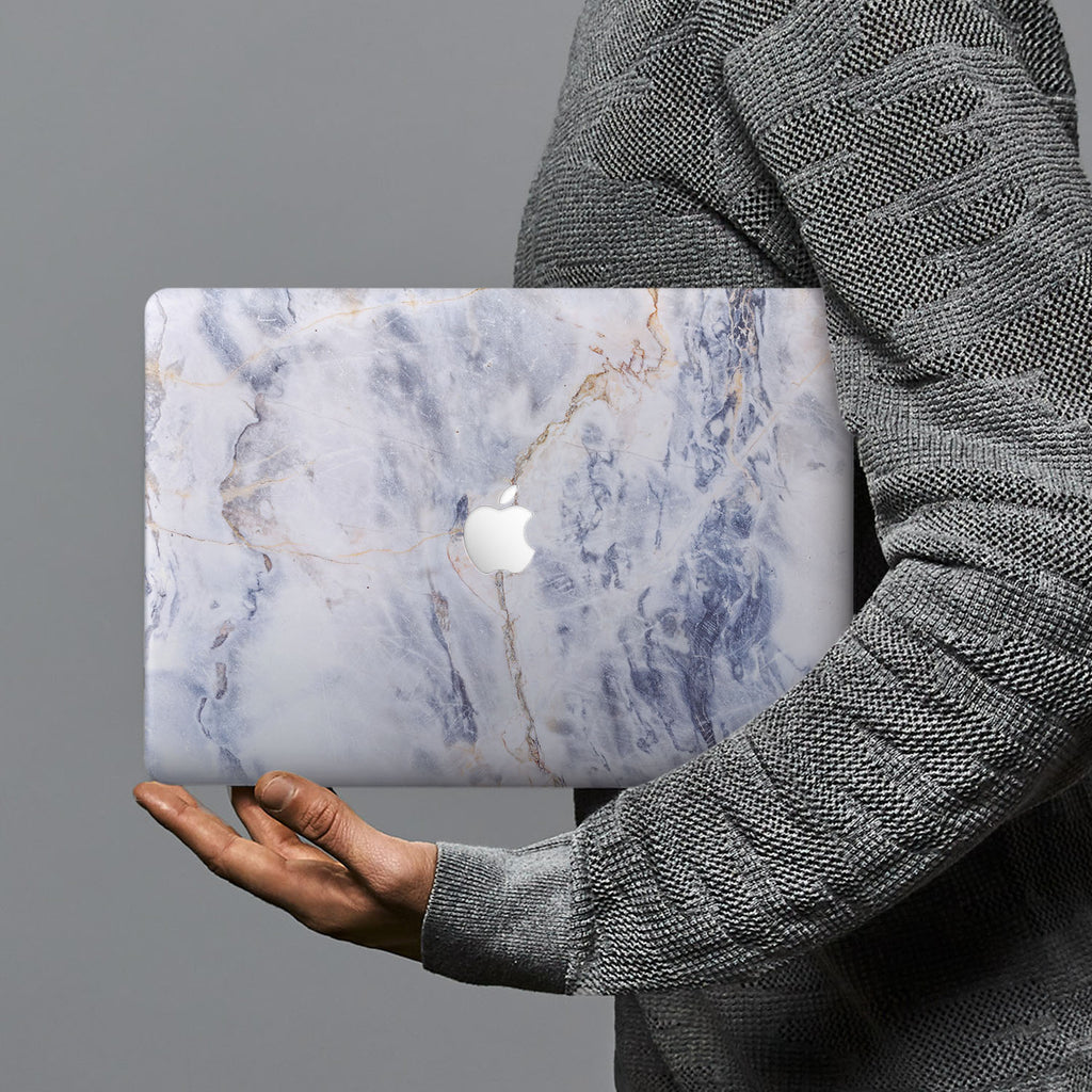 hardshell case with Marble design combines a sleek hardshell design with vibrant colors for stylish protection against scratches, dents, and bumps for your Macbook