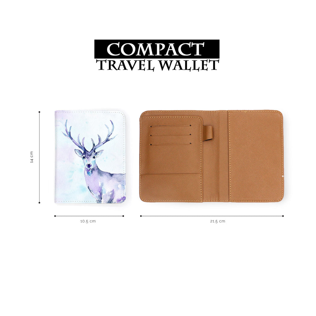 compact size of personalized RFID blocking passport travel wallet with Watercolour design