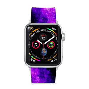 Our Printed Leather Apple Watch Band with Universe design are made of water- and scratch-resistant saffiano leather because we know you wear your apple watch every, single, day. - swap