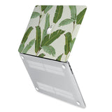 hardshell case with Green Leaves design has rubberized feet that keeps your MacBook from sliding on smooth surfaces