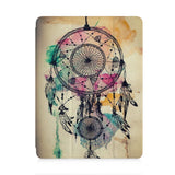 front view of personalized iPad case with pencil holder and DREAMCATCHER design