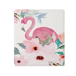 the Front View of Personalized Kindle Oasis Case with Flamingo design - swap