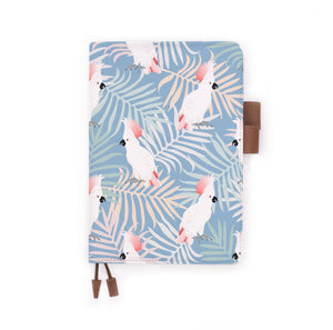 the front view of papermarker's diary with Bird pattern