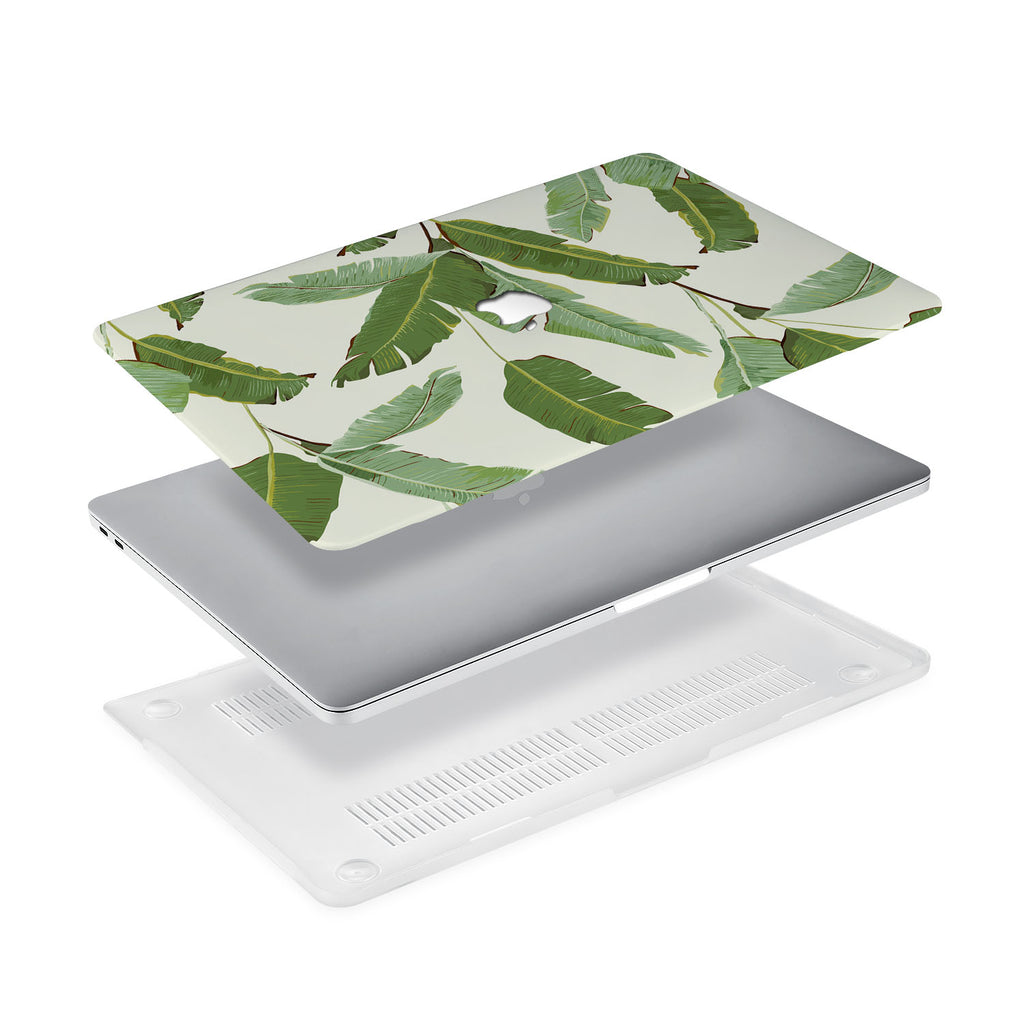 Ultra-thin and lightweight two-piece hardshell case with Green Leaves design is easy to apply and remove - swap