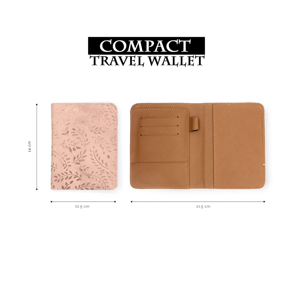 compact size of personalized RFID blocking passport travel wallet with Magical Textured Pattern design