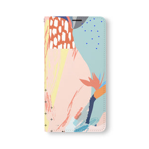Front Side of Personalized Samsung Galaxy Wallet Case with Abstract2 design