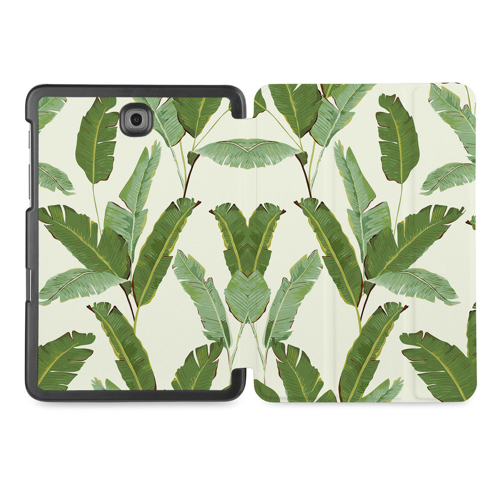 the whole printed area of Personalized Samsung Galaxy Tab Case with Green Leaves design
