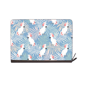 front view of personalized Macbook carry bag case with Bird design