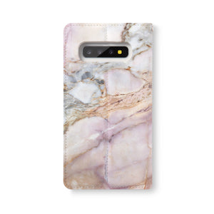 Back Side of Personalized Samsung Galaxy Wallet Case with Marble2 design - swap