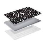 Ultra-thin and lightweight two-piece hardshell case with Polka Dot design is easy to apply and remove - swap