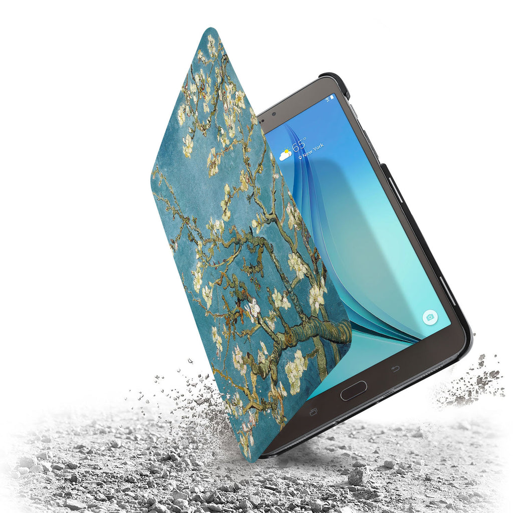 the drop protection feature of Personalized Samsung Galaxy Tab Case with Oil Painting design