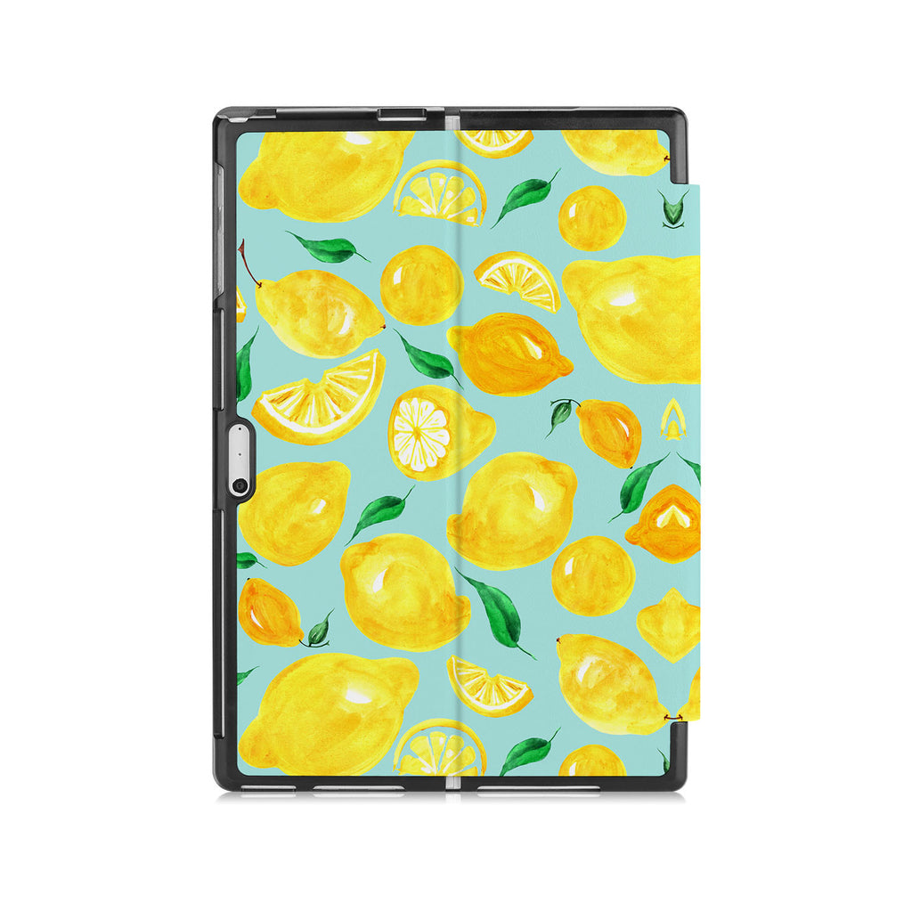 the back side of Personalized Microsoft Surface Pro and Go Case with Fruit design