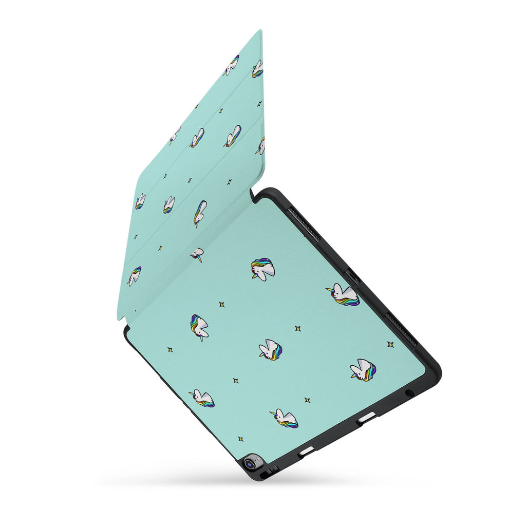 personalized iPad case with pencil holder and Dreamy design