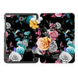 the whole printed area of Personalized Samsung Galaxy Tab Case with Black Flower design