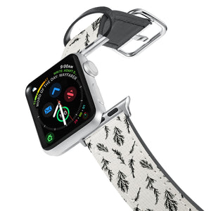 Printed Leather Apple Watch Band with Tiles design. Designed for Apple Watch Series 4,Works with all previous versions of Apple Watch.
