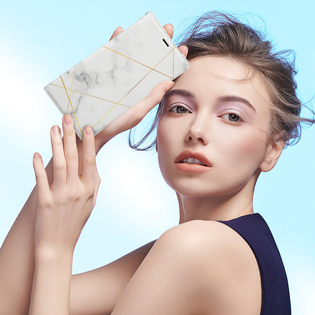 Personalized iPhone Wallet Case with Marble 2020 desig marries a wallet with an Samsung case, combining two of your must-have items into one brilliant design Wallet Case.