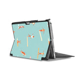 the back side of Personalized Microsoft Surface Pro and Go Case in Movie Stand View with Summer design - swap